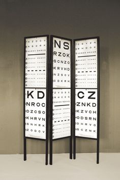 Visual Acuity Test room divider -- Mac Nettles Design