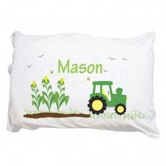 Personalized Tractor Pillowcase
