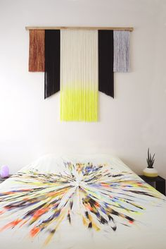 Master wall hanging - Decoration For Home Yarn Wall Art, Yarn Wall Hanging, Fabric Wall Art, Diy Wall Art, Diy Wall Decor, Diy Art, Diy Home Decor, Wall Hangings, Decor Room
