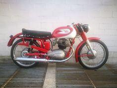 Moto Morini - Settebello 175 cc - 1957  Moto Morini - Settebello 175 cc - 1957Sportproductie uit de jaren '50.Met 18 pk; maximumsnelheid: meer dan 140 km/u Dit model werd gekocht door coureurs die deel wilden nemen aan enduranceraces of F3-races gereserveerd voor sportmotoren in de categorie MSDS (Moto Sport Derived Series). Later is de kuip toegevoegd en de motorfiets verder bewerkt met onderdelen geleverd door Moto Morini om een snelheid van ca. 190 km/u te kunnen behalen.Deze motor was…