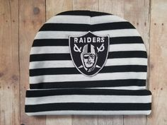 baby oakland raiders hat-toddler oakland raiders hat-oakland raiders hat for baby-oakland raiders baby shower gift-raiders for baby by CocoandEllieDesign on Etsy