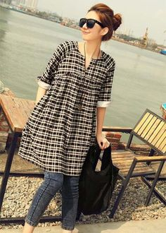 Kurti With Jeans Frock Fashion, Fashion Dresses, Style Fashion, Cheap Fashion, Fashion Women, Fashion Edgy, Fashion Black, Fashion Design, Fashion Clothes
