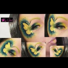 Precious! Gina used Sugarpill Buttercupcake and Bulletproof eyeshadows in her intricate butterfly makeup design. How cute and creative!