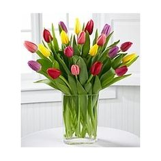 I love tulips. Reminds of planting bulbs with Mom in our front yard growing up. Wholesale Flowers Online, Tulip Bouquet, Planting Bulbs, Better Homes And Gardens, Spring Colors, My Flower, Flower Art, Seasonal Decor, Home Design