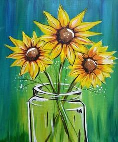Check out Evening Sunflowers at Applebee's (College Park) - Paint Nite - Hey! Check out Evening Sunflowers at Applebee's (College Park) – Paint Nite Hey! Check out Evening Sunflowers at Applebee's (College Park) – Paint Nite Cute Canvas Paintings, Easy Canvas Painting, Acrylic Canvas, Diy Painting, Painting & Drawing, Watercolor Paintings, Canvas Art, Acrylic Painting Flowers, Simple Acrylic Paintings