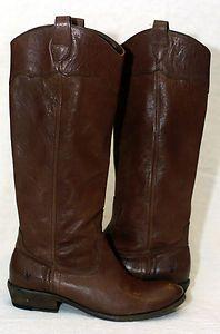FRYE Women's CARSON RIDING TALL Boots (77202) in Dark Brown Sz 8!   eBay
