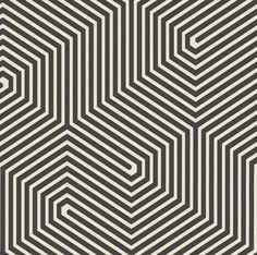Labyrinth  Black wallpaper by Cole & Son