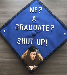 Graduation Cap Decorations An inspired cap from the Princess Diaries ! it yourself graduate # graduation hat Disney Graduation Cap, Funny Graduation Caps, Graduation Cap Designs, Graduation Cap Decoration, Graduation Diy, Funny Grad Cap Ideas, Graduation Outfits, Quotes For Graduation Caps, Nursing Graduation
