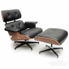 Awesome Excellent Review  California Co Plywood Lounge Chair U0026 Ottoman, Black  Standard Leather/ Walnut