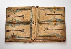 Parfleche Envelope Date: ca. 1865 Geography: United States, Colorado Culture: Southern Cheyenne Medium: Buffalo rawhide, pigment