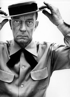 Buster Keaton. Still wearing that terrific hat and  that great dead-pan face.