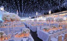 Starry Night Wedding Decor at-home-wedding-reception Wedding Ceremony Ideas, Night Wedding Decor, Starry Night Wedding, Wedding Tips, Wedding Styles, Wedding Themes, Our Wedding, Dream Wedding, Wedding Decorations