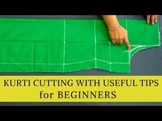 Easy Kurti Cutting For Beginners With Very U. Sewing Pants, Sewing Clothes, Cut Clothes, Baby Girl Dress Patterns, Dress Sewing Patterns, Tailoring Techniques, Sewing Techniques, Sewing Tutorials, Sewing Projects For Beginners