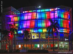 'Miami's Most Colorful building' - photo by Asad (iCamPix.Net), via Flickr;  has ever changing lights