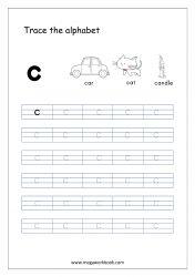 Alphabet Tracing Worksheet - Alphabet Tracing Sheets - Small Letter c Small Alphabet Letters, Alphabet Writing Practice, Tracing Letters, Alphabet Book, Learning Letters, Tracing Sheets, Free Printable Alphabet Worksheets, Letter Worksheets For Preschool, Writing Worksheets