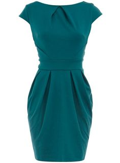 Teal lampshade dress
