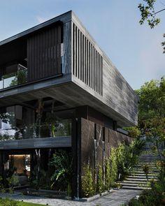 Modern Exterior House Designs, Modern Architecture House, Modern Buildings, Modern House Design, Exterior Design, Architecture Design, Villa Design, Facade Design, Home Inside Design