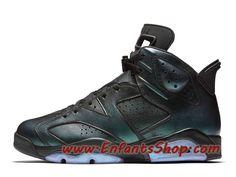 buy online 25e3e 68d22 Air Jordan 6 VI Retro All Star Chaussures Jordan Officiel Pas Cher Pour  Homme Noir Vert 907961-015