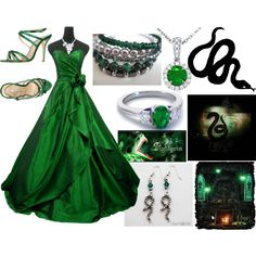 Slytherin Yule Ball by heroesofolympus-236 on Polyvore