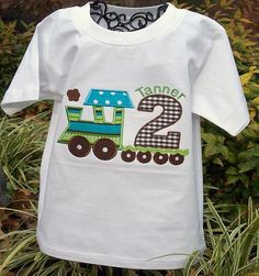 Cute for a train themed 2nd Birthday Party!