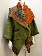 Mieko Mintz - Vintage Silk Kantha Jacket.     We were just introduced to designer Mieko Mintz who uses kantha in her work.  Such beauty and innovation.
