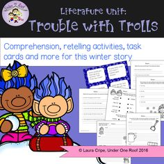 """Here is a fun packet for Jan Brett's """"Trouble with Trolls"""".  Hop over to my TpT store and check it out."""