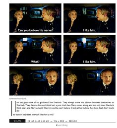I love them already. :) Mary and Sherlock. Brotp. I really enjoy the song that they chose when we first see her and when Sherlock deduces her. :) gifset // Mary Mary Mary Mary Mary! <3