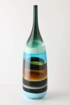Sand Strata Vase, Bottle | Anthropologie.eu