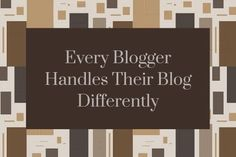 Renard helps us to understand the various ways in which bloggers handle their blogs.