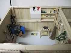 I want to make a barn like this for my schleich so bad! Horse Tack Rooms, Horse Stables, Horse Barns, American Girl Doll Horse, Schleich Horses Stable, Bryer Horses, Toy Barn, Horse Accessories, Horse Crafts