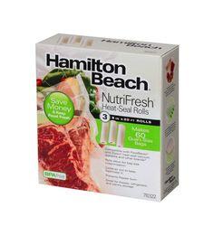 """Heat Sealer Rolls Bags Food Mini Heat Foodsaver Storage 8"""" x 20' Roll Clear 3pk #HamiltonBeach"""