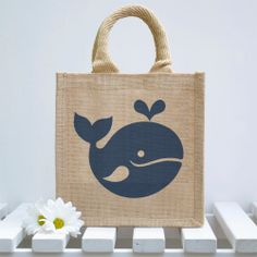 Whale Lunch Bag by Snowdon on Etsy, $15.50