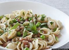 Haute Jalapeño Recipes : Orecchiette With Pancetta, Peas And Fresh Herbs