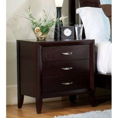 SALE Modus Furniture PE5081 Penthouse Two Drawer Nightstand, Coco