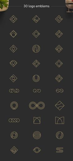 "This product is now included in my new ""Geometric Logos Pack""! --- I'm so happy to introduce you my new Geometric Logos! This collection includes 30 geometric 1 Logo, Logo Branding, Branding Design, Brand Identity Design, Corporate Branding, Logo Geometric, Geometric Symbols, Photoshop, Logo Monogramme"