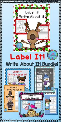 This labeling and writing activity bundle is great for kindergartners, first graders, and English Language Learners and can be used in a  writing literacy center, writing small group, whole group or as morning work.  Buy the bundle and save over 30%!Includes the following 6 products: