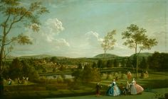 by Edward Haytley, landscape paintings - The Montagu Family at Sandleford Priory (Berkshire), 1744 Garden Painting, Painting & Drawing, Landscape Art, Landscape Paintings, Forms Of Poetry, English Artists, British Artists, Portraits, Romanticism