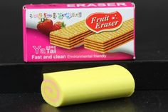 Strawberry Scented Roll Eraser