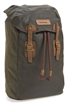 Barbour+Waxed+Canvas+Backpack+available+at+#Nordstrom
