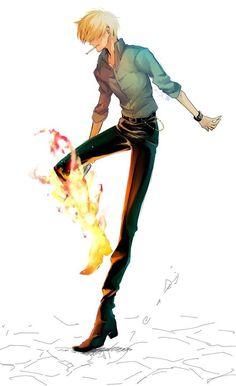 Sanji/ Cook/ Strawhat pirates/ One piece manga ⚓⚓⚓ One Piece Manga, One Piece サンジ, One Piece Figure, Sanji One Piece, Single Piece, Manga Anime, Fanart Manga, Film Manga, Anime One