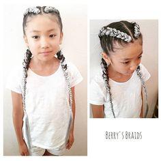 キッズダンサー✨2ブレイズ  お問い合わせ、ご予約はコチラ→0433067016 LINE ID:berrysbraids  #cornrow #braid#duchbraid #2braids #braids #hairbraid #bigbraids #kidshair #コーンロー#コーンロウ#ブレイズ#2ブレイズ#極太コーンロウ #編み込みヘア#編み込みスタイル #キッズダンサー #キッズヘア#キッズダンス#キッズダンスヘア #ダッチブレイド #外国人風カラー #お洒落キッズ#trança ##trancas ##ヘアセット #エクステ#シルバーカラー