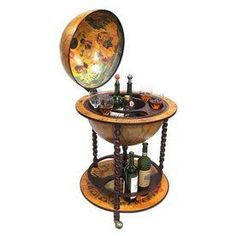 Century Italian Style Diameter Floor Globe Bar W Twisted Stand Globes