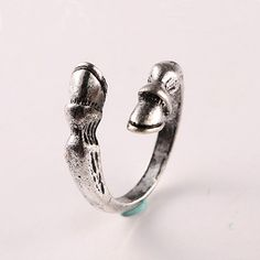 shunyun Antique Silver Vintage Horse Hoof Animal Adjustable Ring for Women Girls Men Punk Style Christmas Gift Fashion Jewelry #Affiliate