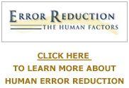 Human Error Reduction Tools, Processes, Training
