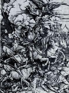 Альбрехт Дюрер. Апокалипсис. 1496—1498 гг.  Четыре всадника Апок.