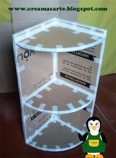 Ideas Craft Paper Storage Diy Projects For 2019 Cardboard Organizer, Craft Paper Storage, Cardboard Storage, Diy Storage Boxes, Cardboard Box Crafts, Paper Crafts, Cardboard Paper, Cardboard Castle, Cardboard Playhouse