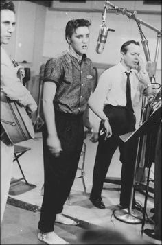 """It took 17 takes to record """"I Want You, I Need You, I Love You."""" It was released on May 12, 1956."""