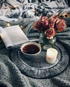 Such a peaceful day with my book and tea ☕️