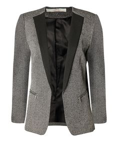 Love this Devoted by Dex Black & Gray Blazer by Devoted by Dex on #zulily! #zulilyfinds