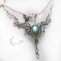 MIRINHIEEL - silver , labradorite, topaz by LUNARIEEN